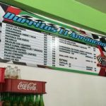 Foto del menú de El Arrancón que nos encontramos en Internet.
